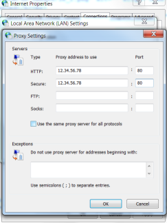 private proxies form input proxy setting with HTTP and secure details