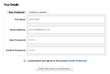 InstantProxies new customers client form