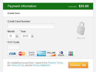 InstantProxies service payment form credit card details