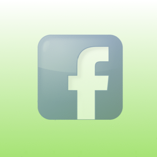 Facebook logo with gradient green background