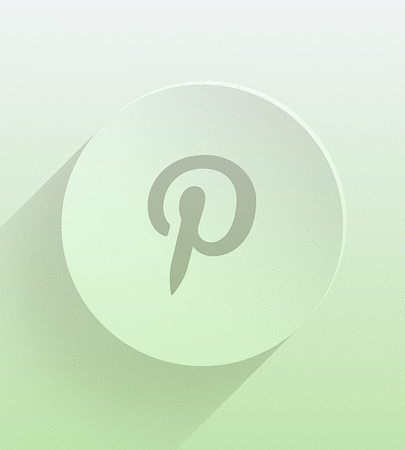 Pinterest icon with gradient