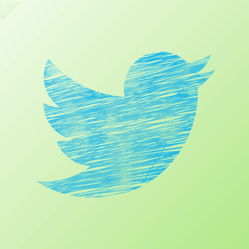 Twitter icon in green background